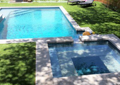 Custom Geometric Pool / Spa Portfolio by Westbrook Pools - Austin Texas