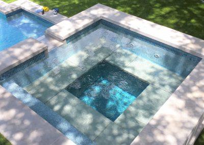 Custom Geometric Spa by Westbrook Pools - Austin Texas