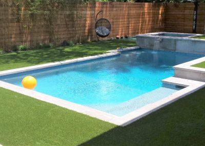 Custom Geometric Pool / Spa by Westbrook Pools - Austin Texas