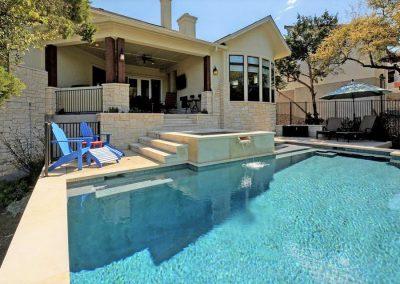 custom pool, spa, water features - pool builder Austin Texas