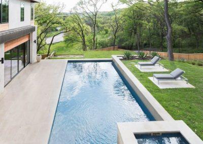 Custom Geometric Pool Design - Austin Texas