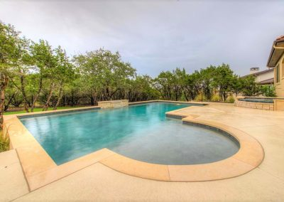 Custom Geometric Pool & Spa Day Photo - Westbrook Pools Austin