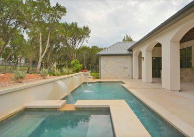 Geometric Pool & Spa Design by Westbrook Pools - Austin Texas Designer - Builder